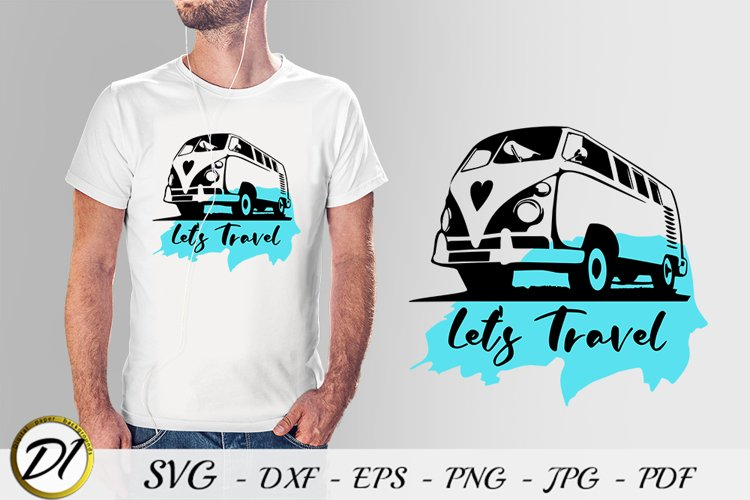 Retro travel van car.Vintage truck svg.Hippie cars.