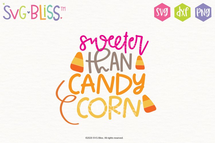Halloween SVG- Sweeter than Candy Corn- Cutting File
