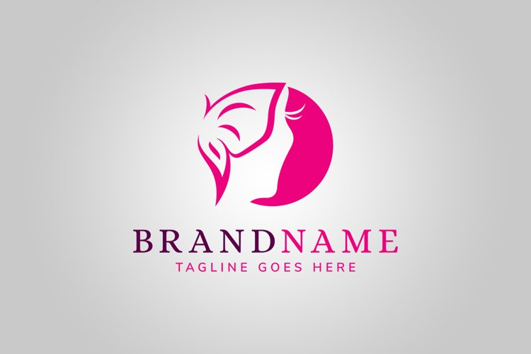 Woman Butterfly Logo Template example image 1