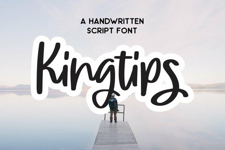 Web Font Kingtips - Handwritten Script Font example image 1