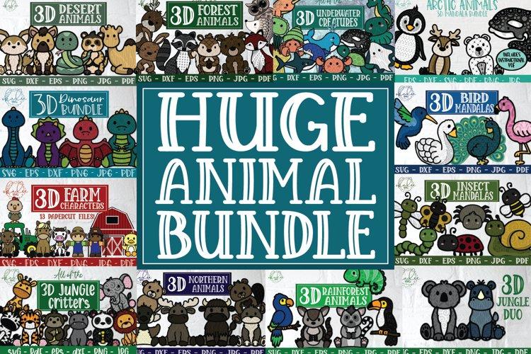 Huge 3D Animal Bundle, Layered Mandala, Best Sellers example image 1