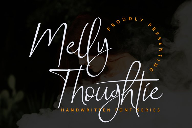 Melly Thoughtie - Handwritten SIgnature Font example image 1