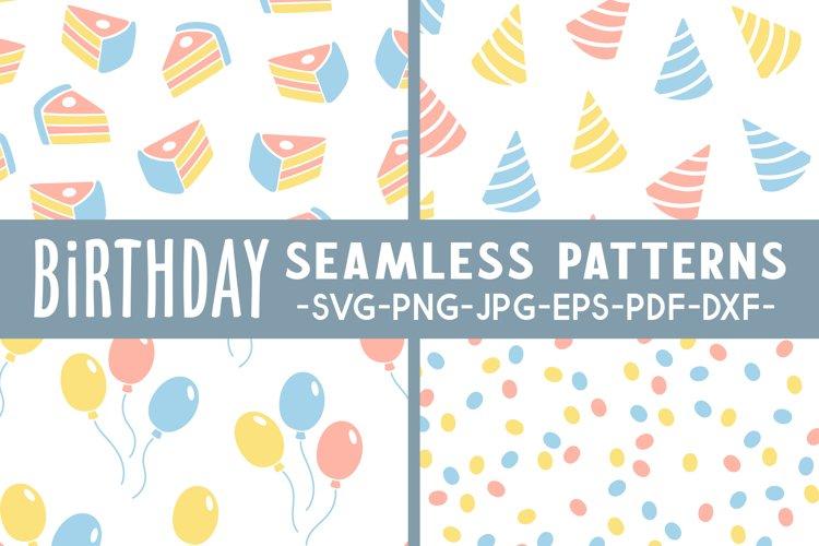 Birthday seamless pattern svg Birthday svg Balloon svg file