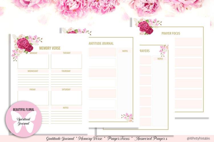 Beautiful Floral Digital Spiritual Journal example image 1