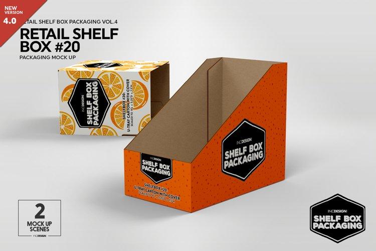 Retail Shelf Box 20 Packaging Mockup