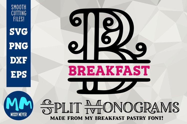 Breakfast Split Monograms- A-Z alphabet set for cut or print