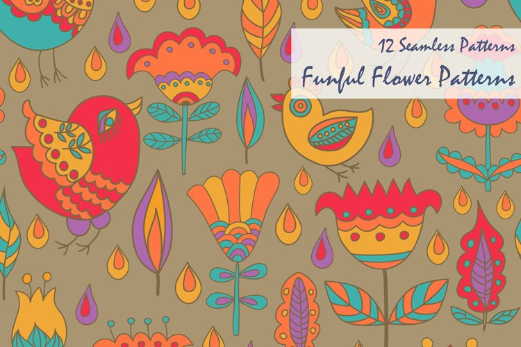 Funful Flower Patterns example image 1