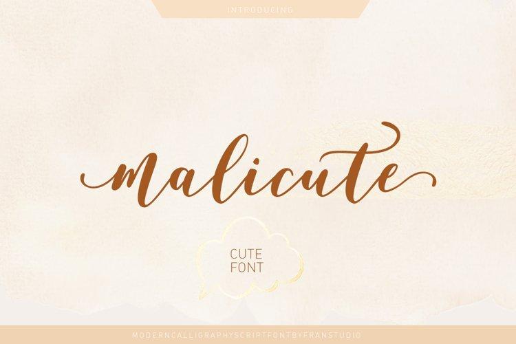 Malicute Script example image 1