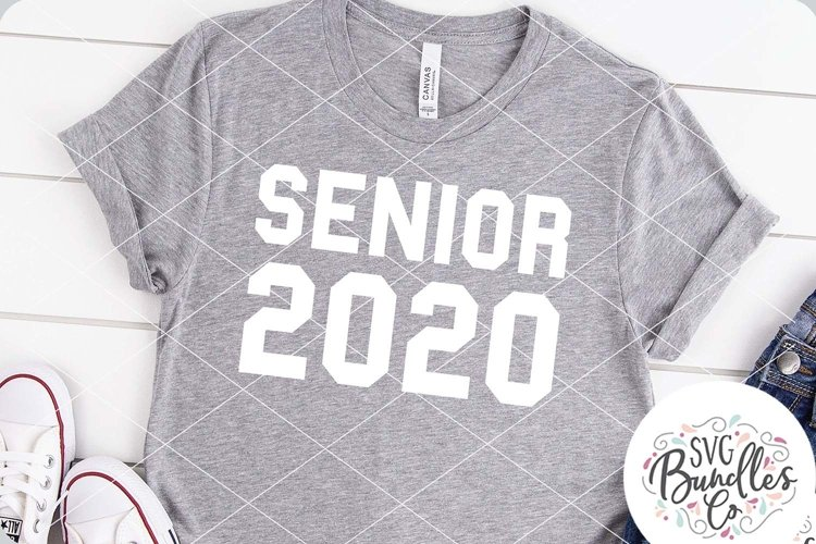 Senior 2020 - Sporty Style - Graduation SVG DXF PNG example image 1