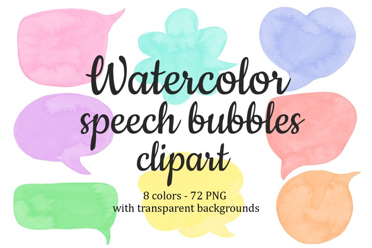 Speech bubbles Chat bubble Colorful Text clouds clipart example image 1