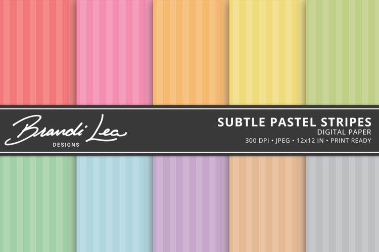 Subtle Pastel Stripes Digital Paper Pack
