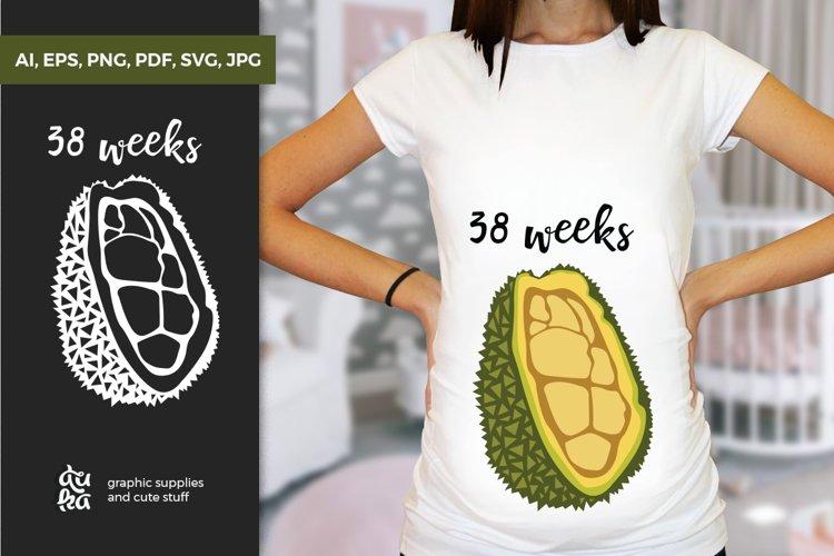 Pregnancy Week by Week SVG Cut Files - Jackfruit