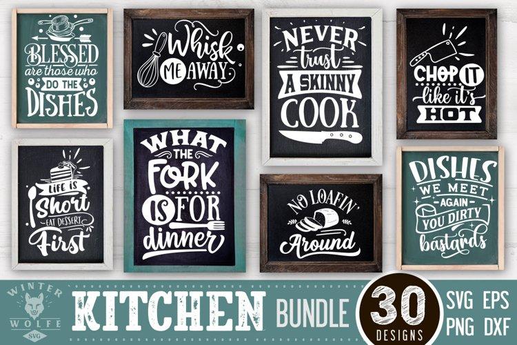Kitchen bundle 30 designs SVG EPS DXF PNG