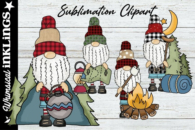 Norman The Gnome Loves Camping Sublimation Clipart