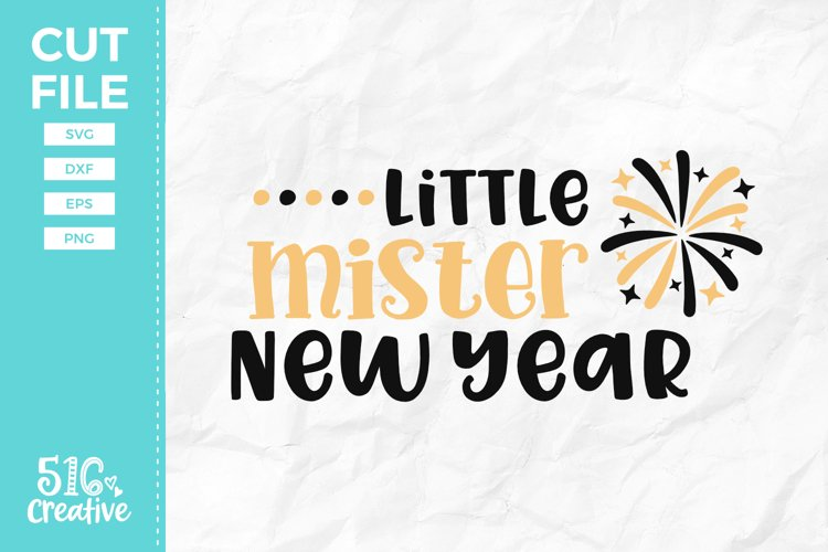 Little Mister New Year SVG DXF EPS PNG example image 1