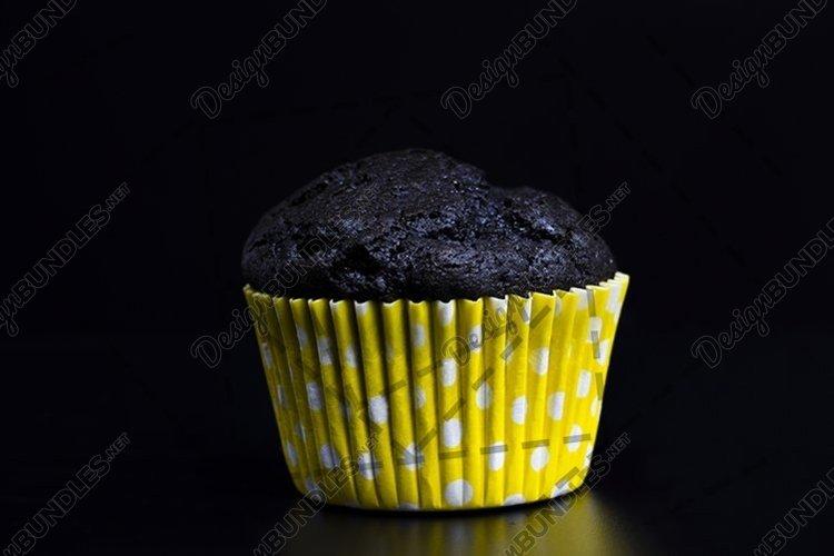 unusual black cupcake close-up example image 1