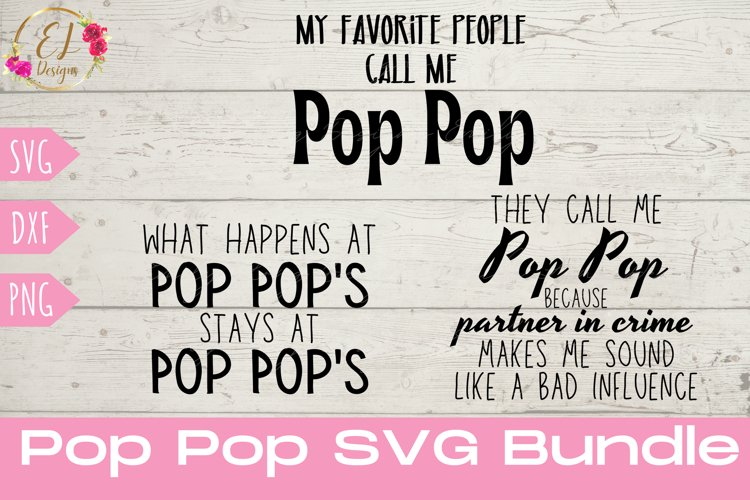 Pop Pop SVG Bundle | Grandpa SVG| Grandfather SVG
