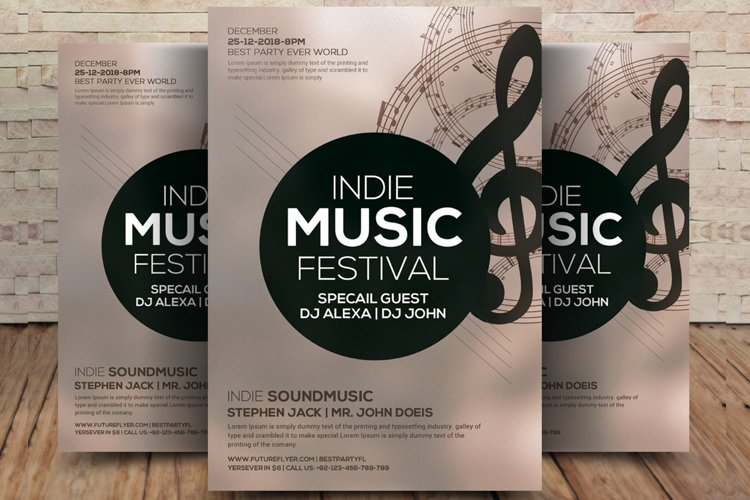 Indie Music Festival Flyer example image 1
