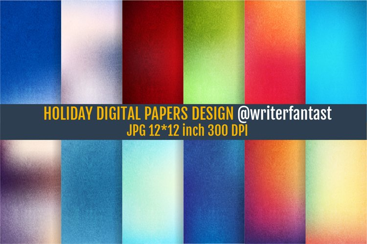 Holiday digital papers example image 1