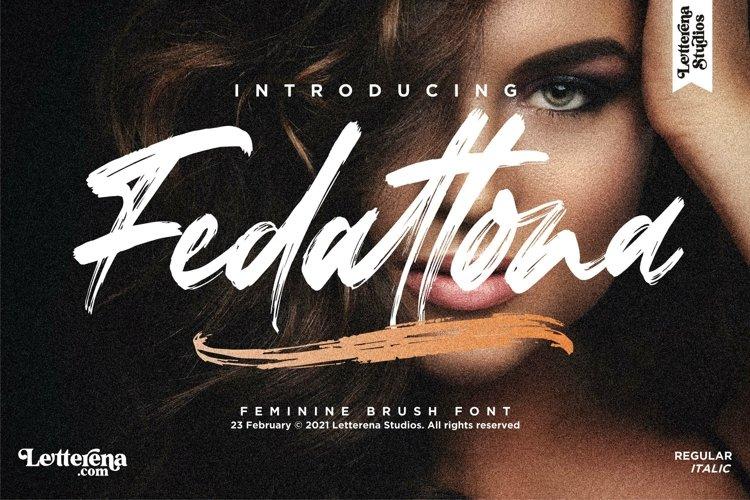 Fedattona - Feminine Brush Font example image 1