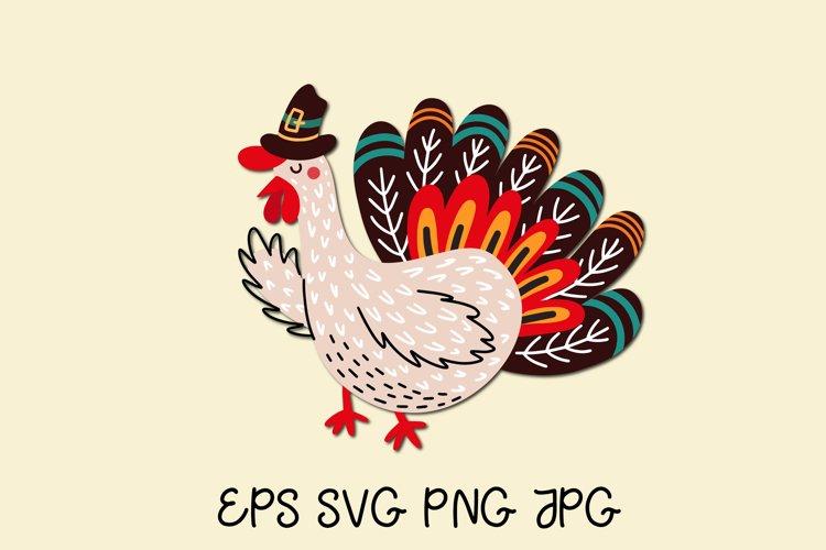 Turkey SVG. Thanksgiving turkey clipart
