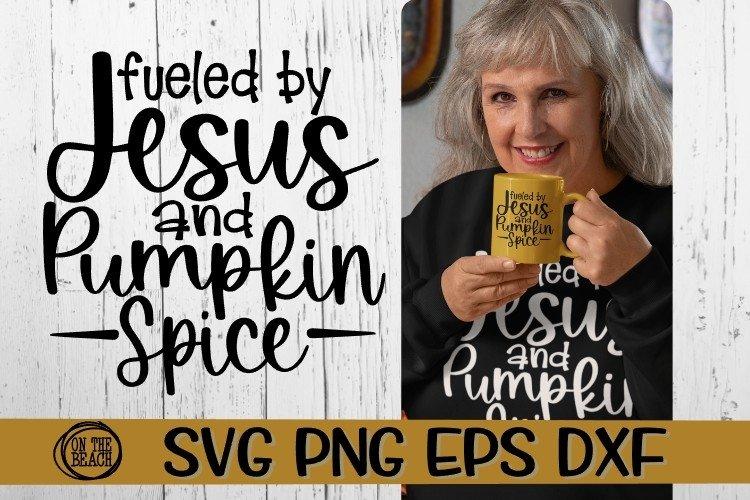SVG -Jesus - Pumpkin Spice - SVG PNG EPS DXF example image 1