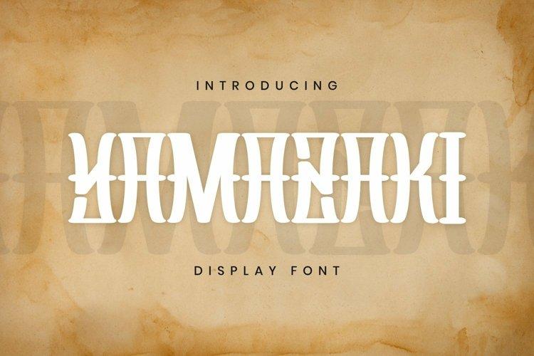 Web Font Yamazaki Font example image 1