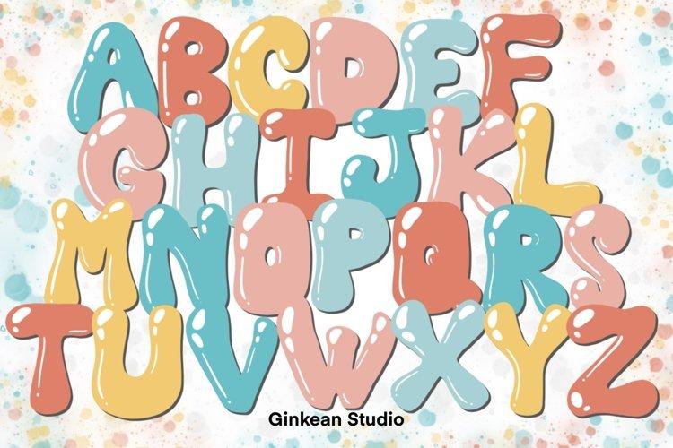 Alphabet brushes, 26 Alphabets brush stamp procreate example image 1