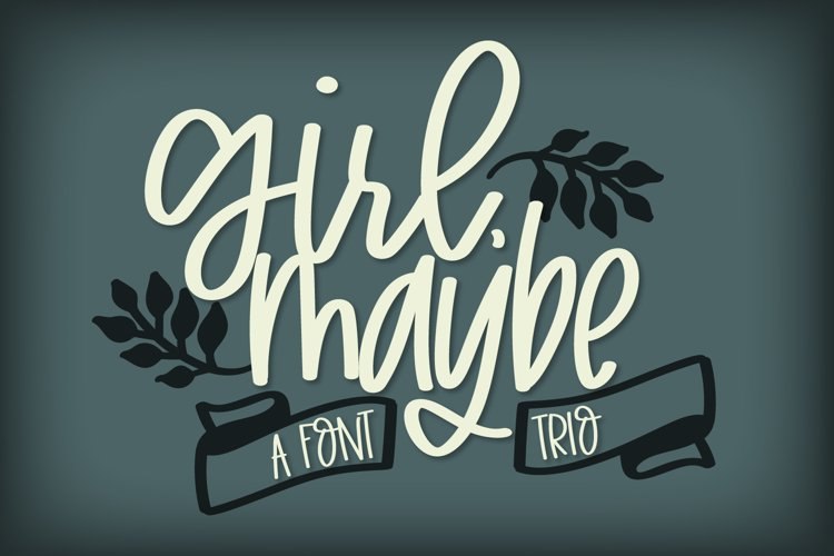 Girl Maybe - A Clean Craft Friendly Font Trio example image 1