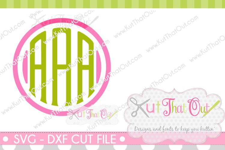 Exclusive Clubhouse Monogram Font SVG & DXF Cut File example image 1