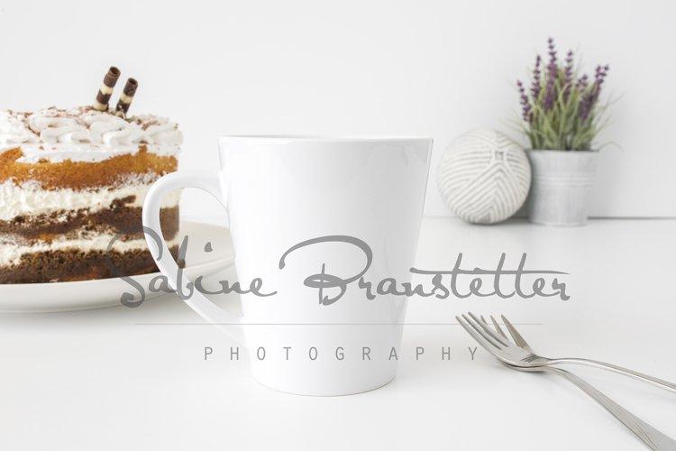 Styled Stock Photography White Latte Mug Mockup example image 1