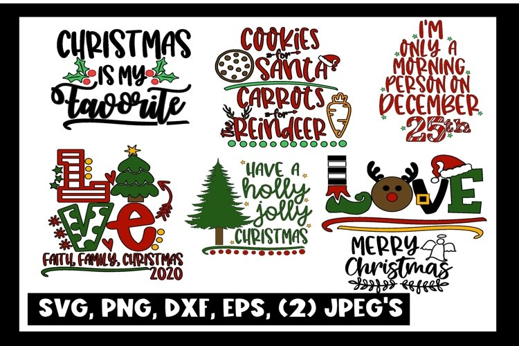 Love SVG DXF JPEG Silhouette Cameo Cricut Christmas bundle example image 1