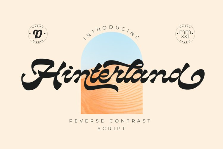 Hinterland | Reverse Contrast Script example image 1
