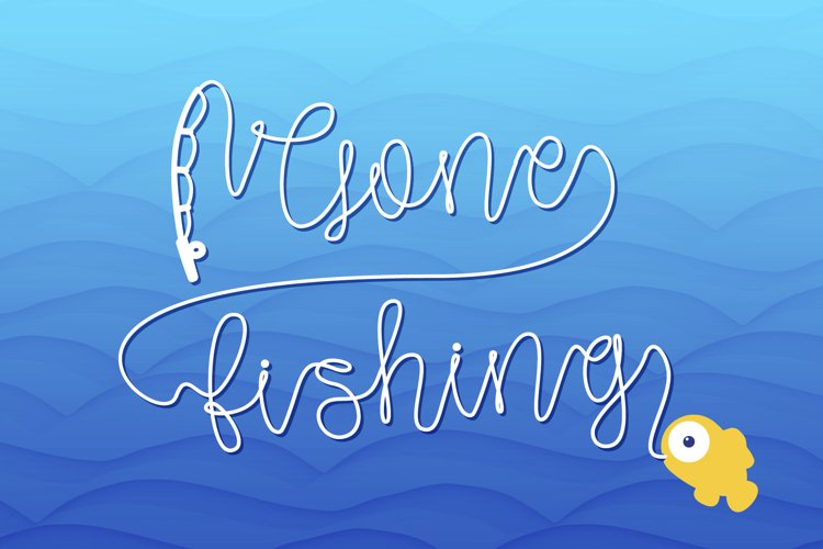 Gone Fishing - a fishing line font - Free Font Of The Week Font