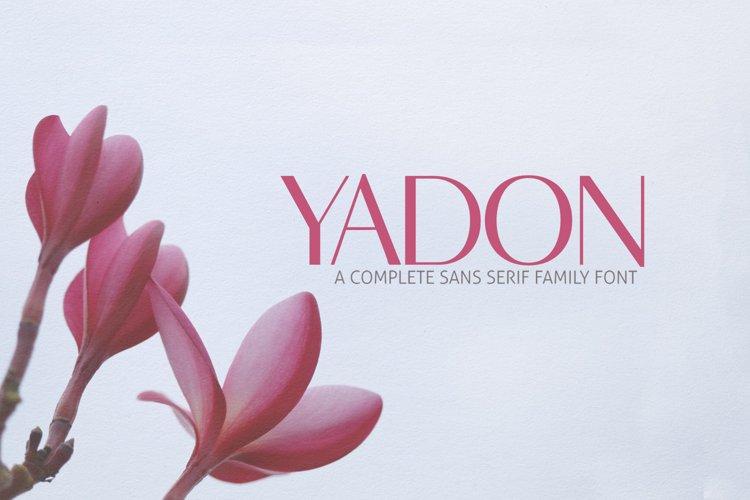 Yadon Sans Serif Typeface example image 1