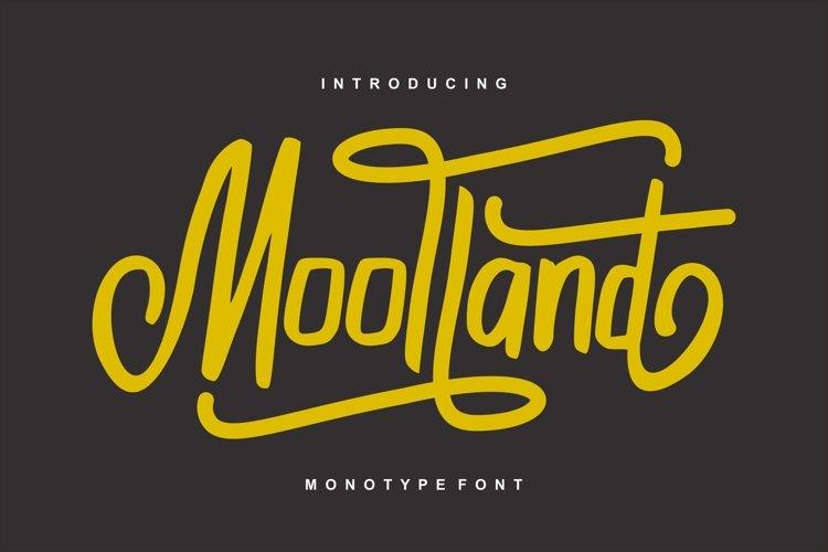 Moolland   Monotype Script Font example image 1