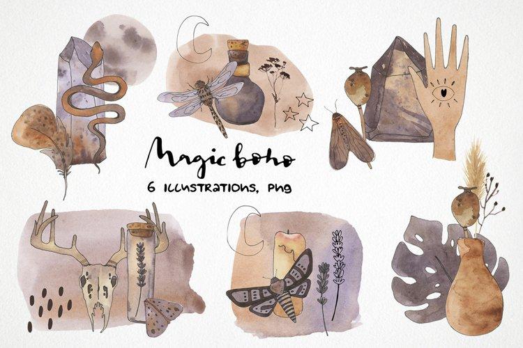 watercolor boho sublimation designs magic printable art