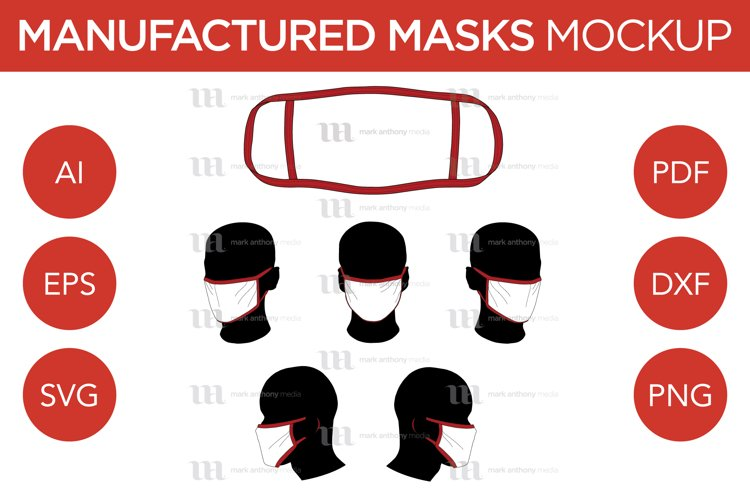 Manufactured Masks - Vector Mockup Template example image 1
