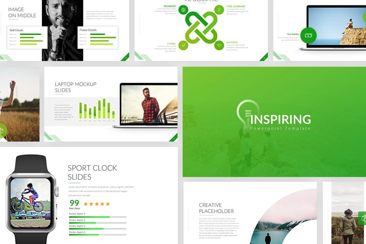 Inspiring Powerpoint Template example image 1