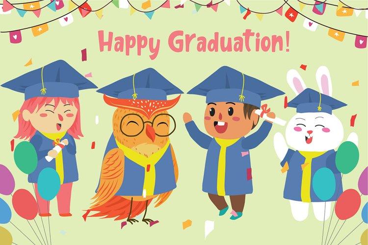 Happy Graduation - Vector Illustration