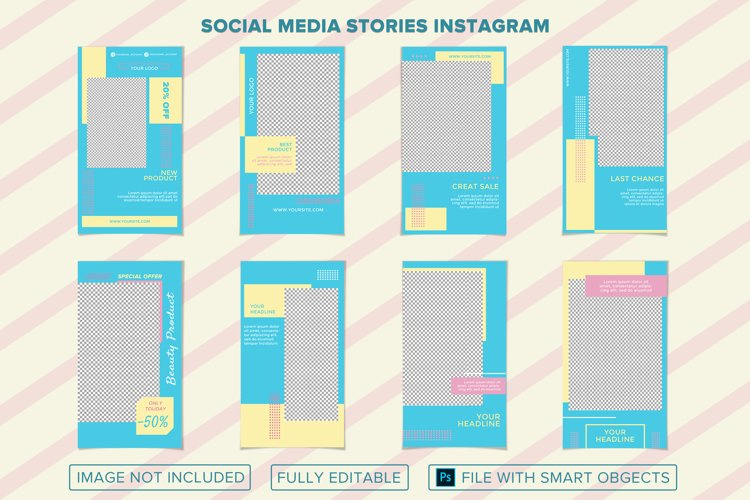 8 templates social media stories instagram.
