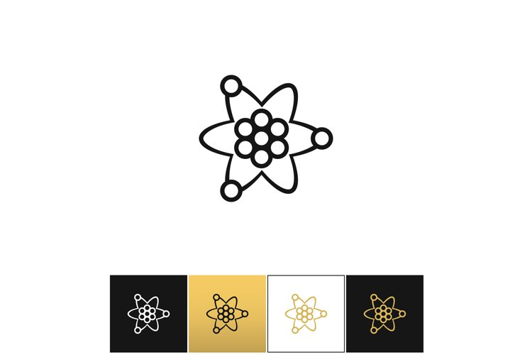 Atom or nuclear core structure vector icon example image 1