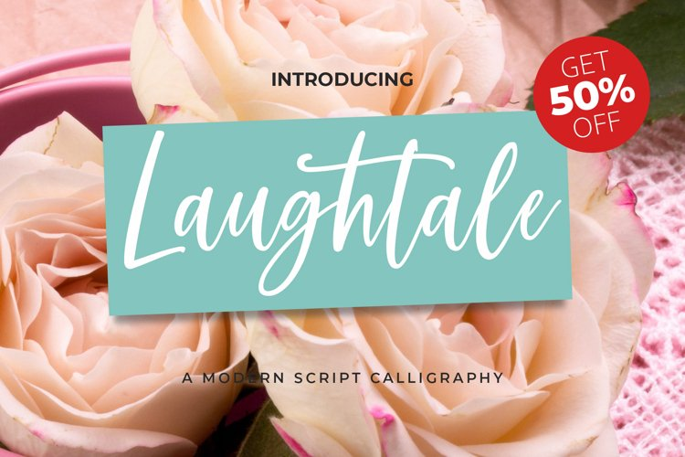 Laughtale - A Handwritten Script Font! example image 1