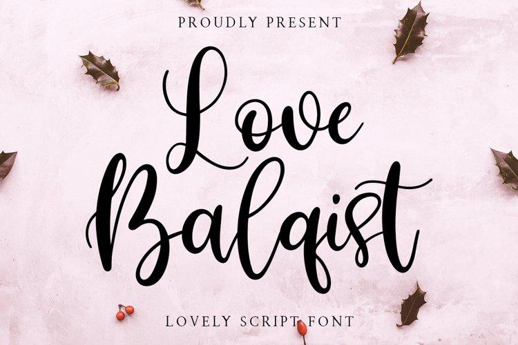 Love Balqist Script example image 1