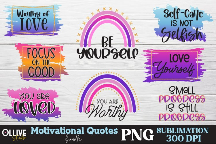 Motivational Quotes Sublimation Bundle, Motivational PNG example image 1