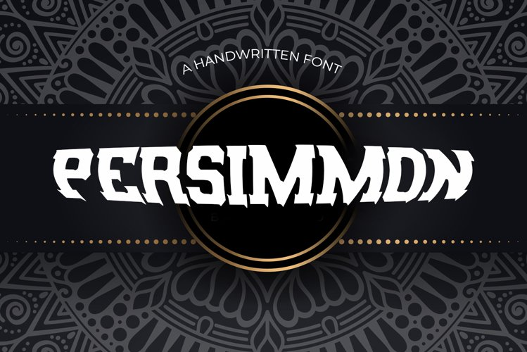 Persimmon Vintage Font example image 1