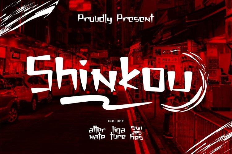 Shinkou - Japanese Style Font example image 1