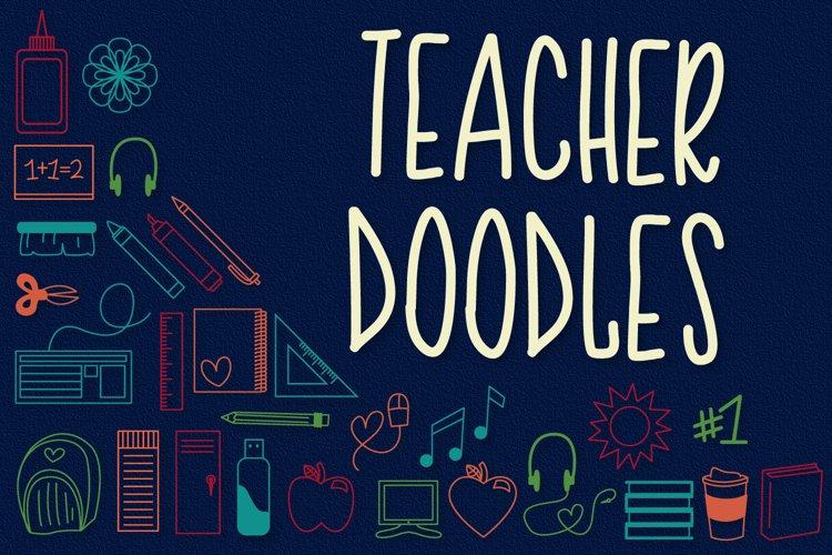 Teacher Doodles - A Dingbat Back To School Font  example image 1