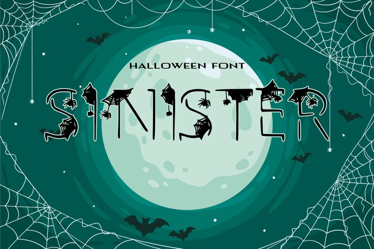 Sinister Halloween Font example image 1