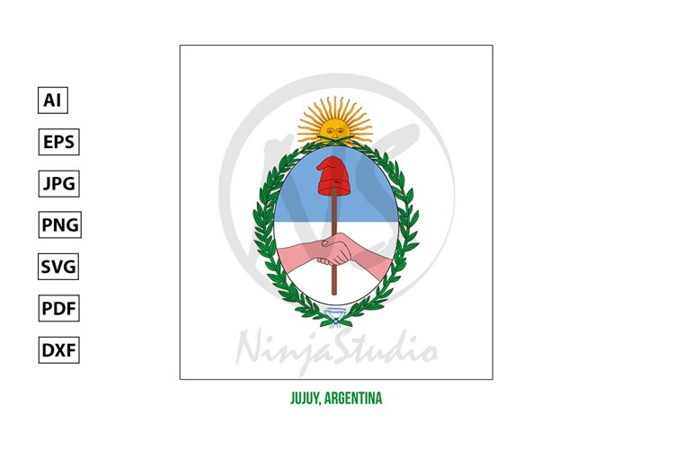 Jujuy Flag Vector Illustration. Flag of Argentina Provinces example image 1
